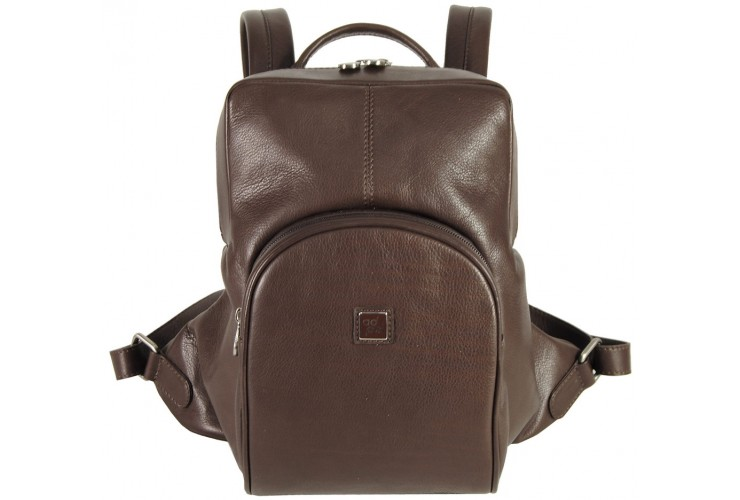 Aerodynamic Backpack in soft calf leather 30 cm