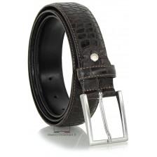 Cintura elegante e da cerimonia in pelle stampa COCCODRILLO, Marrone/Moka