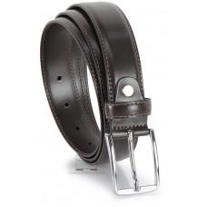 Cintura elegante da 3 cm per abiti e tailleurs in pelle LISCIA Marrone/Moka