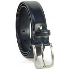 Cintura elegante e da cerimonia in pelle LISCIA, Blu extra lunga