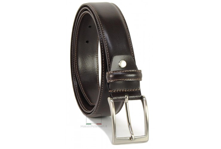 Cintura elegante e da cerimonia in pelle LISCIA, Marrone/Moka