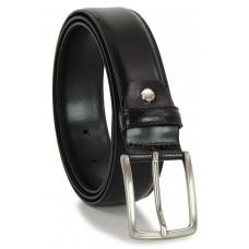 Cintura elegante e da cerimonia in pelle LISCIA, Nero extra lunga