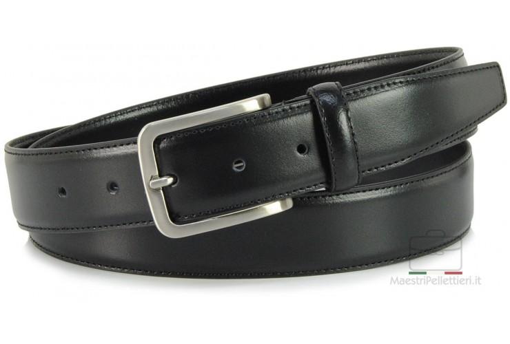 Cintura elegante e da cerimonia in pelle LISCIA, Nero