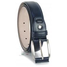 Cintura Blu classica in pelle Vacchetta