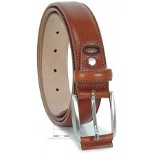 Cintura Marrone / Castagno classica in pelle Vacchetta