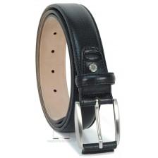 Cintura Nera classica in pelle Vacchetta