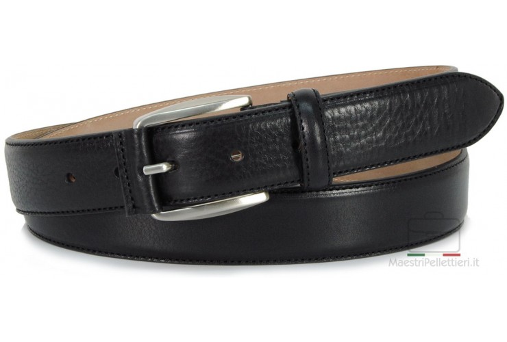 Classic Black Man's belt high italian quality | Adpel
