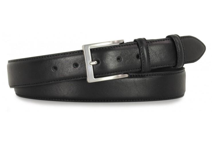 Cintura classica in pelle liscia Nero