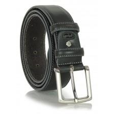 Cintura classica in pelle liscia 4cm Grigio Scuro