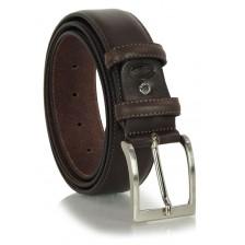 Cintura classica in pelle liscia 4cm Marrone/Moka