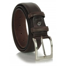Classic plain leather belt 4cm Brown