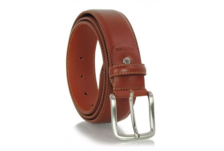 Cintura classica in pelle liscia 4cm Cognac/Stradivari