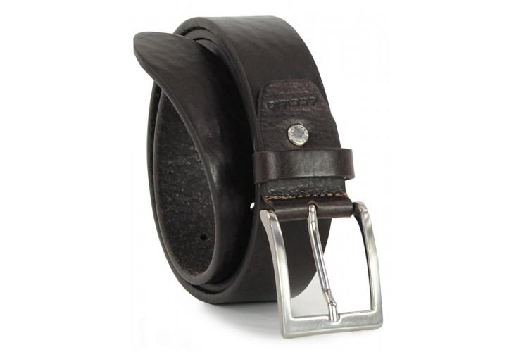 Cintura in Cuoio Volanato T.Moro/Moka