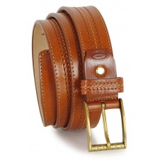 Cintura classica in pelle Vacchetta, Cognac fibbia Ottone F1