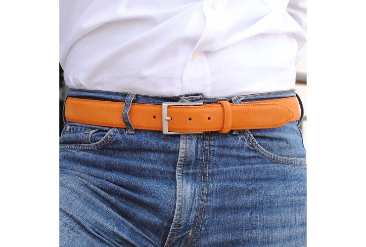 Cintura scamosciata vera pelle Arancio