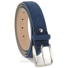 Cintura scamosciata blu