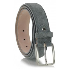 Belt genuine suede leather Gray