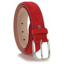 Cintura scamosciata vera pelle Rosso