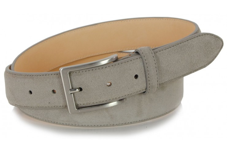 Cintura scamosciata vera pelle Taupe/Beige