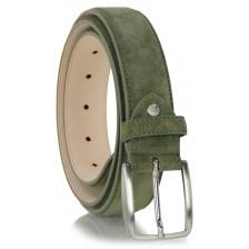 Cintura scamosciata vera pelle Verde