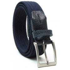 Braided stretch belt elastic, Blu