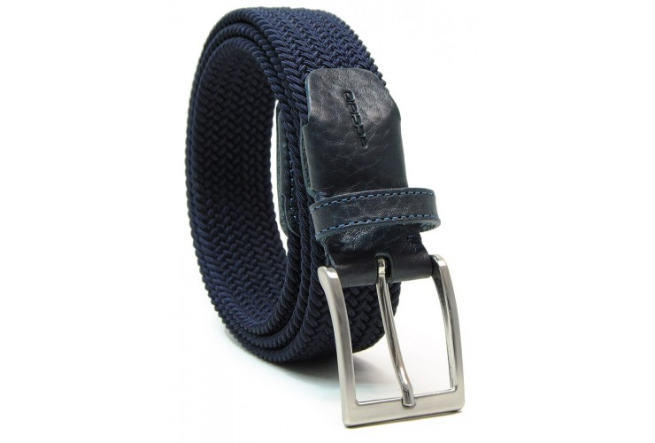 Braided stretch belt elastic, Blu