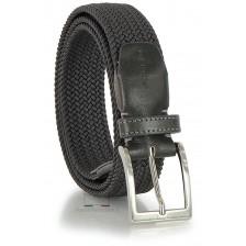 Braided stretch belt elastic, Grey