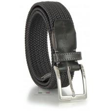 Cintura intrecciata elastica, regolabile, Grigia