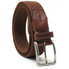 Braided stretch belt elastic, Brown