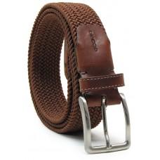 Cintura intrecciata elastica, regolabile, Marrone