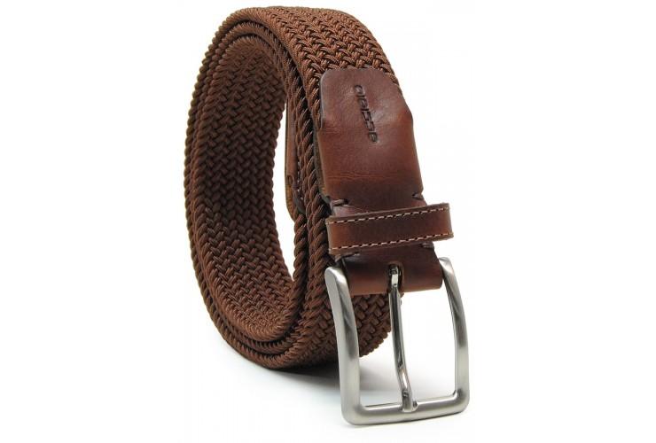 Braided stretch belt elastic, Brown
