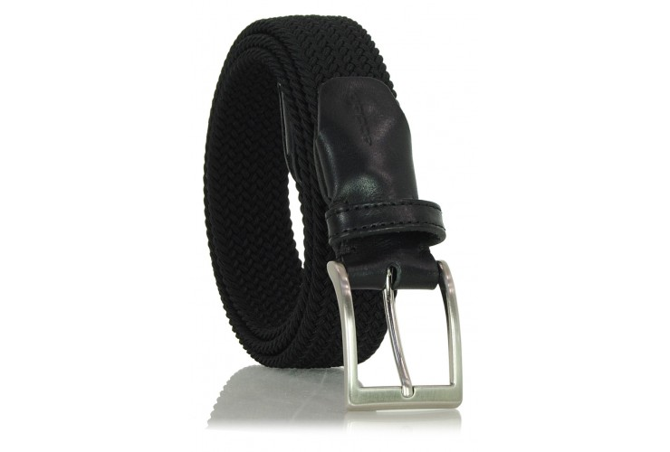 Braided stretch belt elastic, Black