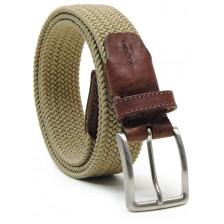 Braided stretch belt elastic, dark Beige