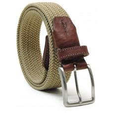 Cintura intrecciata elastica, regolabile, Beige scuro