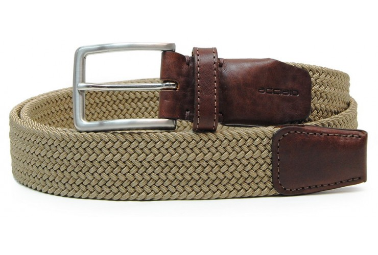 Braided stretch belt elastic, dark Beige