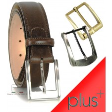 Cintura uomo in pelle Marrone 4cm + 2 fibbie extra