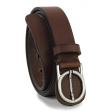 Cintura in Cuoio  3cm (Marrone/Moka)