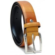 Cintura moda in Cuoio colorato dipinto Marrone e Miele