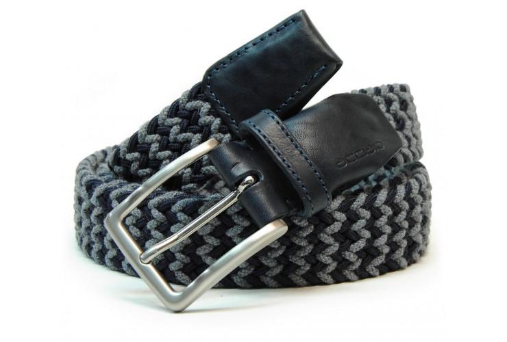 Cintura intrecciata elastica regolabile Blu e Grigio