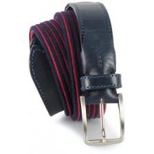 Cintura intrecciata elastica misto lana Blu con righino Porpora