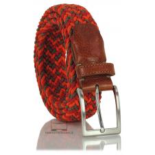 Braided stretch belt elastic multicolor Orange