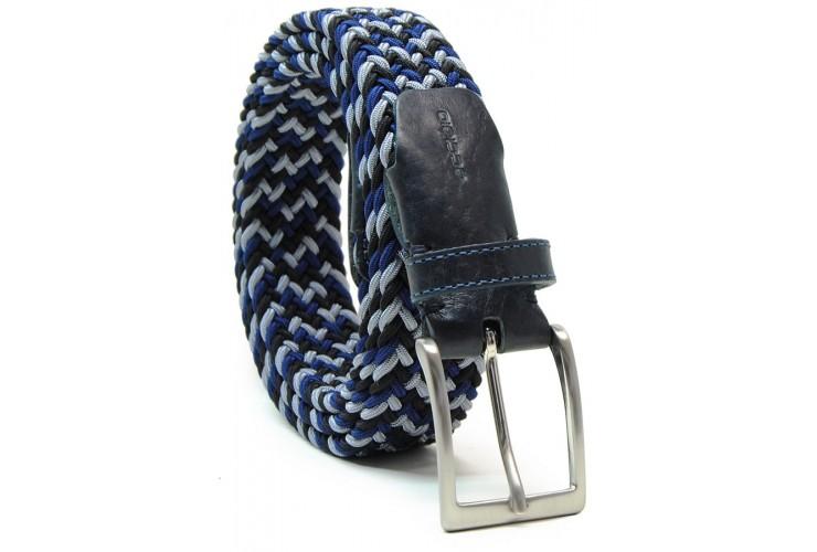Cintura intrecciata elastica multicolore Blu/Grigio/Nero
