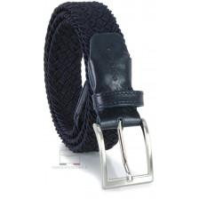 Braided men's stretch belt elastic, Blue