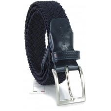 Cintura intrecciata elastica uomo, regolabile, Blu