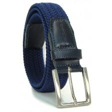 Cintura intrecciata elastica, Blu-Celeste