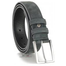 Cintura nabuk su vitello Grigio
