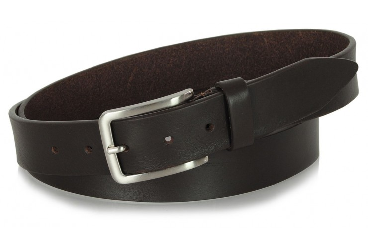 Belt in thick Leather 3,5cm Brown