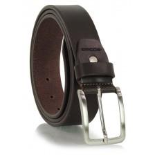 Cintura in Cuoio volanato morbido 3,5cm Marrone