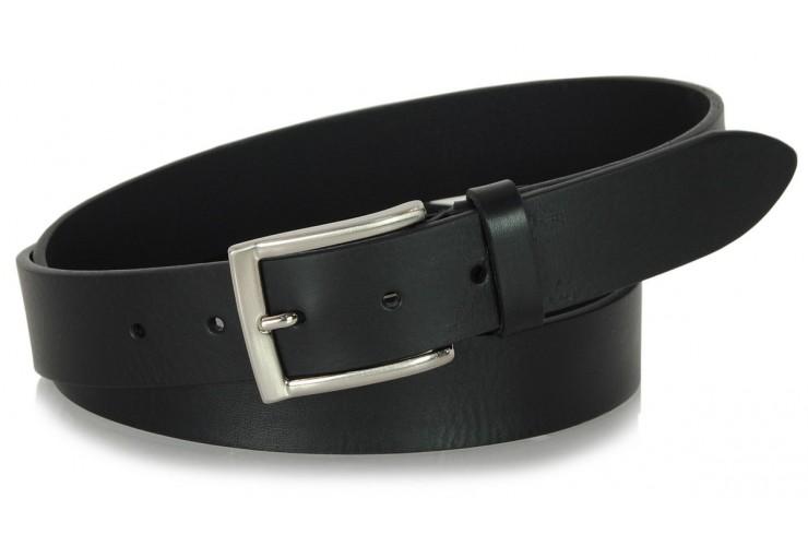 Cintura in Cuoio volanato morbido 3,5cm Nero