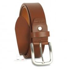 Cintura in Cuoio volanato morbido 3,5cm Cognac/Marrone